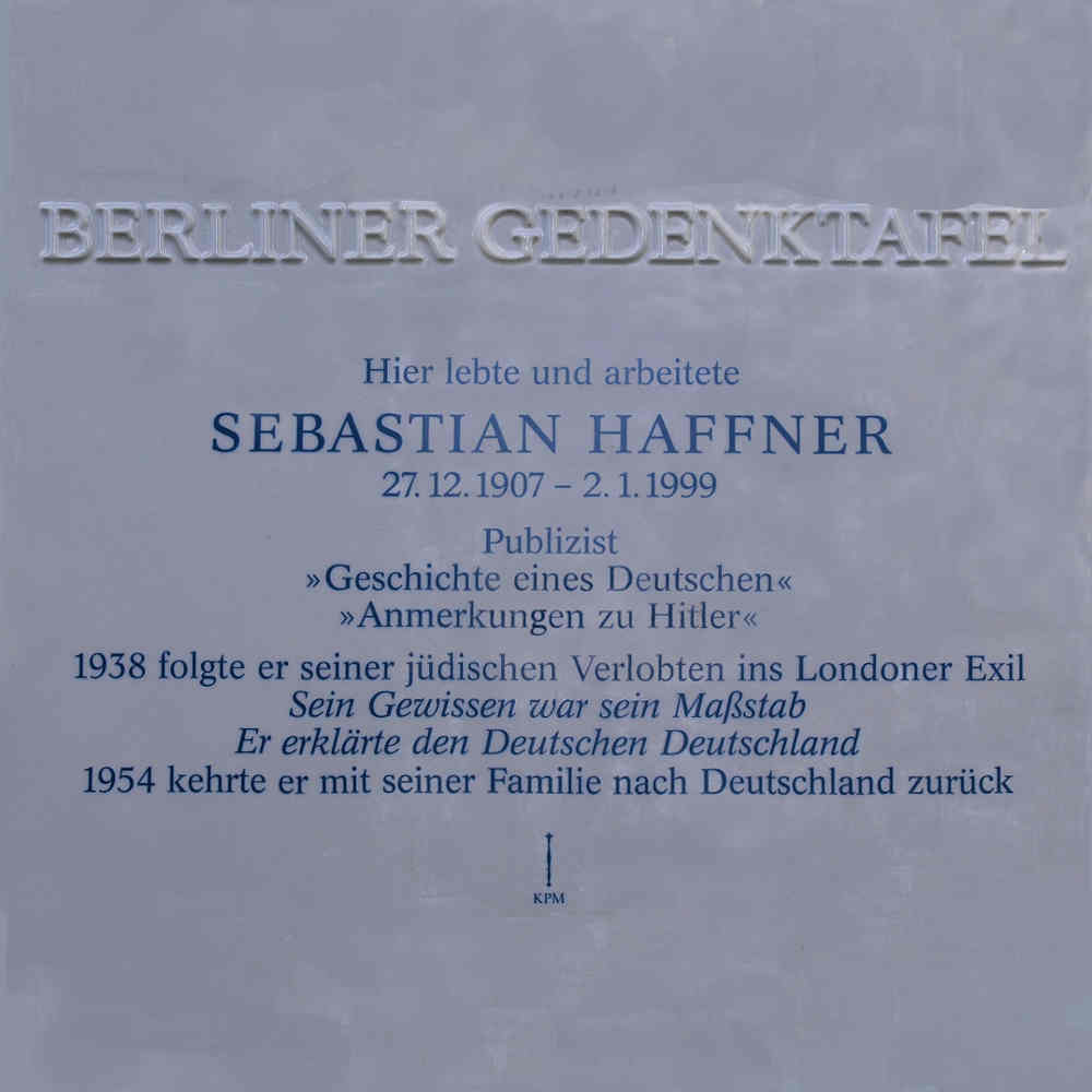 Gedenktafel Sebastian Haffner